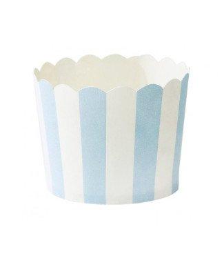 Miss Etoile Cupcakeförmchen weiss blau