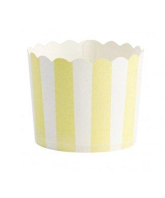 Cupcakeförmchen gelb weiss von Miss Etoile