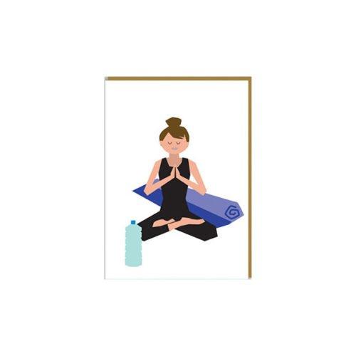 Grußkarte Yoga von Paperfolk