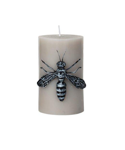 Kerze Bugs Wespe taupe von Broste Copenhagen