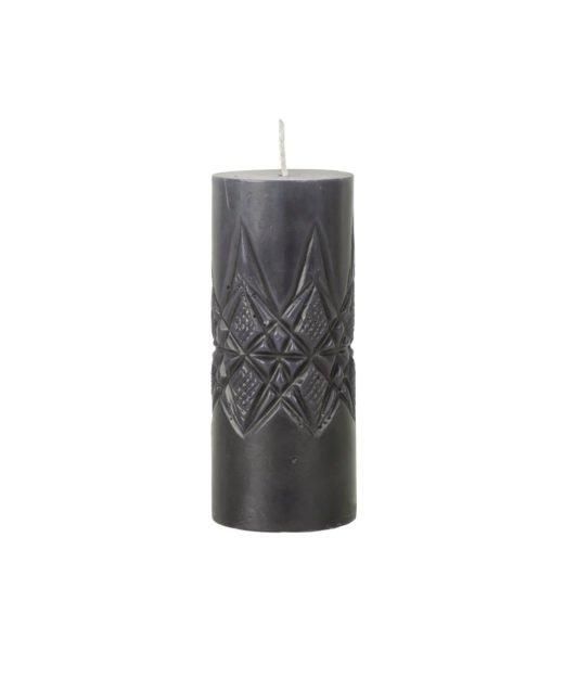 Kerze New Crystal dunkelgrau von Broste