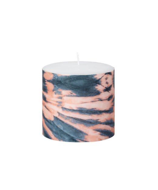 Broste Kerze Flower koralle marmoriert