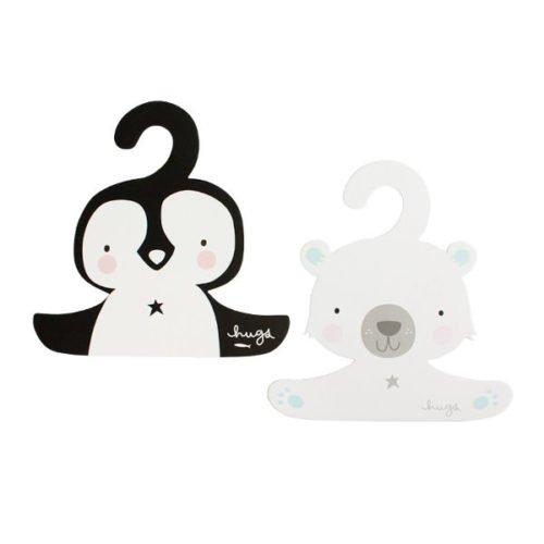Kleiderbuegel Eisbär und Pinguin