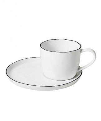 Broste Kaffeetasse mit Unterteller Salt