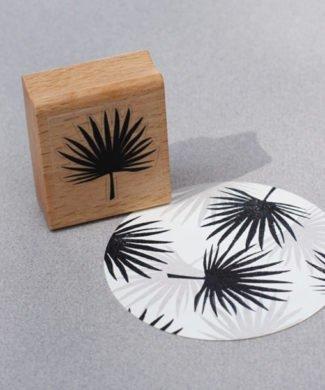Perlenfischer Stempel Palmenblatt