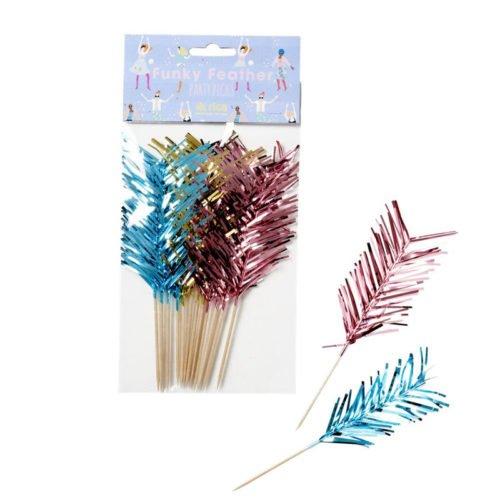 Party Sticks Federn mehrfarbig von Rice