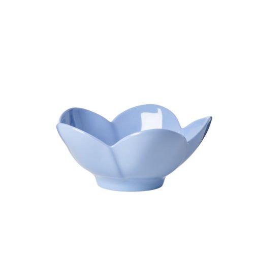 Melaminschüssel Flower in blau von Rice