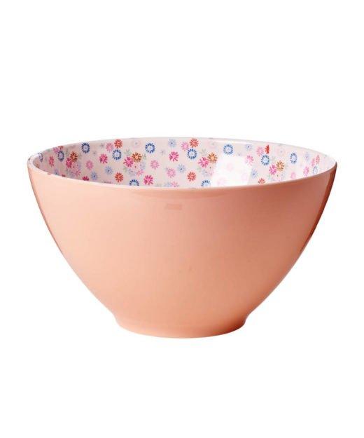 Rice Salatschüssel rosa mit Blümchenmuster