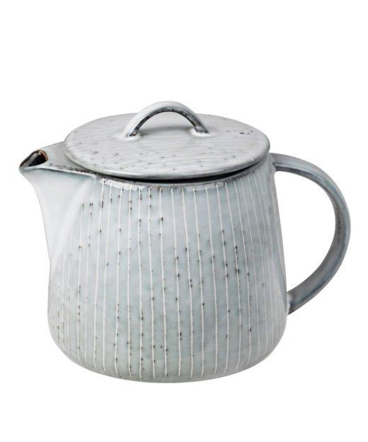 Teekann Nordic Sea grau von Broste Copenhagen