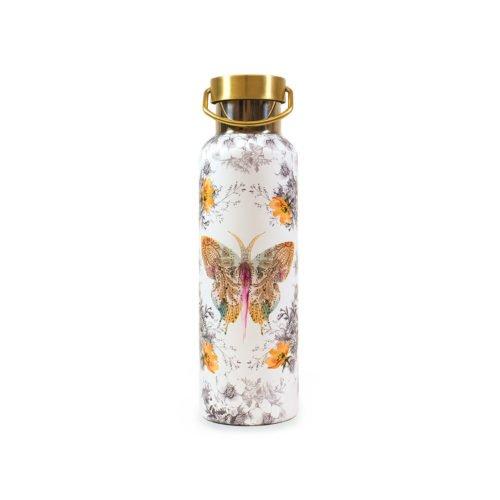 Papaya Paisley Butterfly Flasche