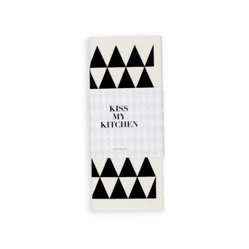 Kiss-my-kitchen-Schwammtuch-dreieck-weiss