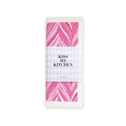Kiss-my-kitchen-Schwammtuch-feder-pink