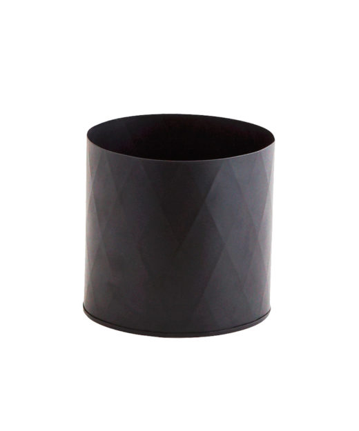 Madam-Stoltz-Übertopf-Blech-schwarz