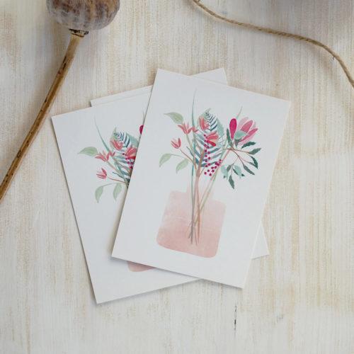 Kruth-Design-Postkarte-Flower